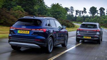 Audi Q4 e-tron and Mercedes EQA