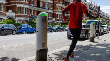 Charge Point at 30 Prince of Wales Drive, Battersea, London, London. London, June 21 2019.