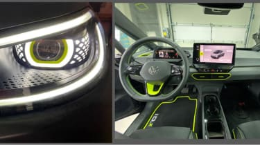 ID.X Prototype lights and interior
